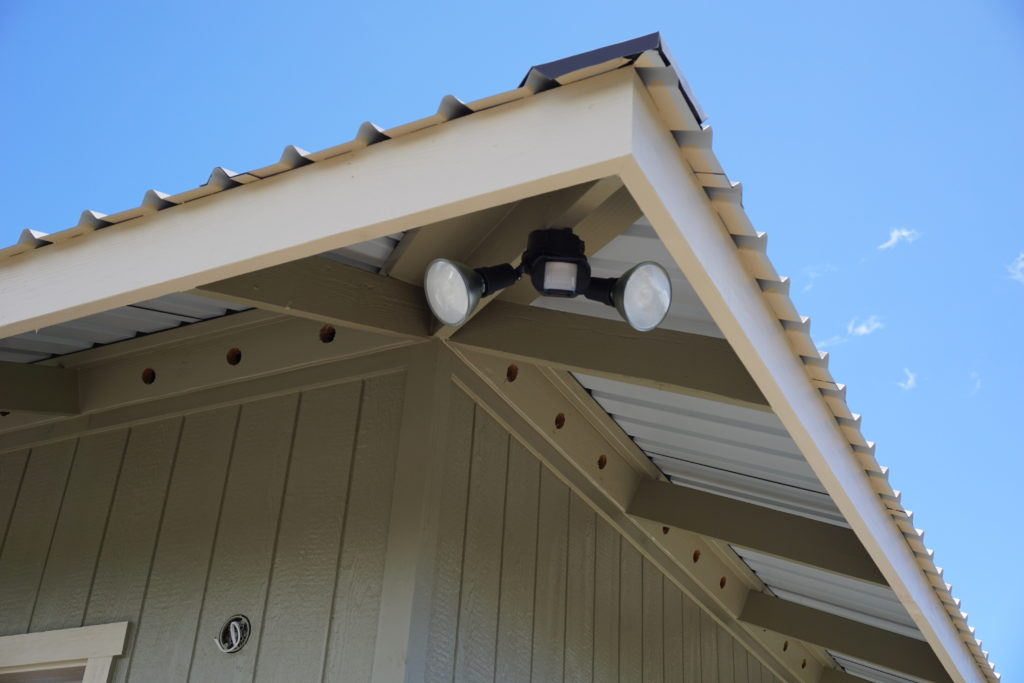 Solar motion sensor lights in Hilo, Hawaii